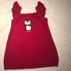 💝Penguin jumper/sweater dress 12 mo